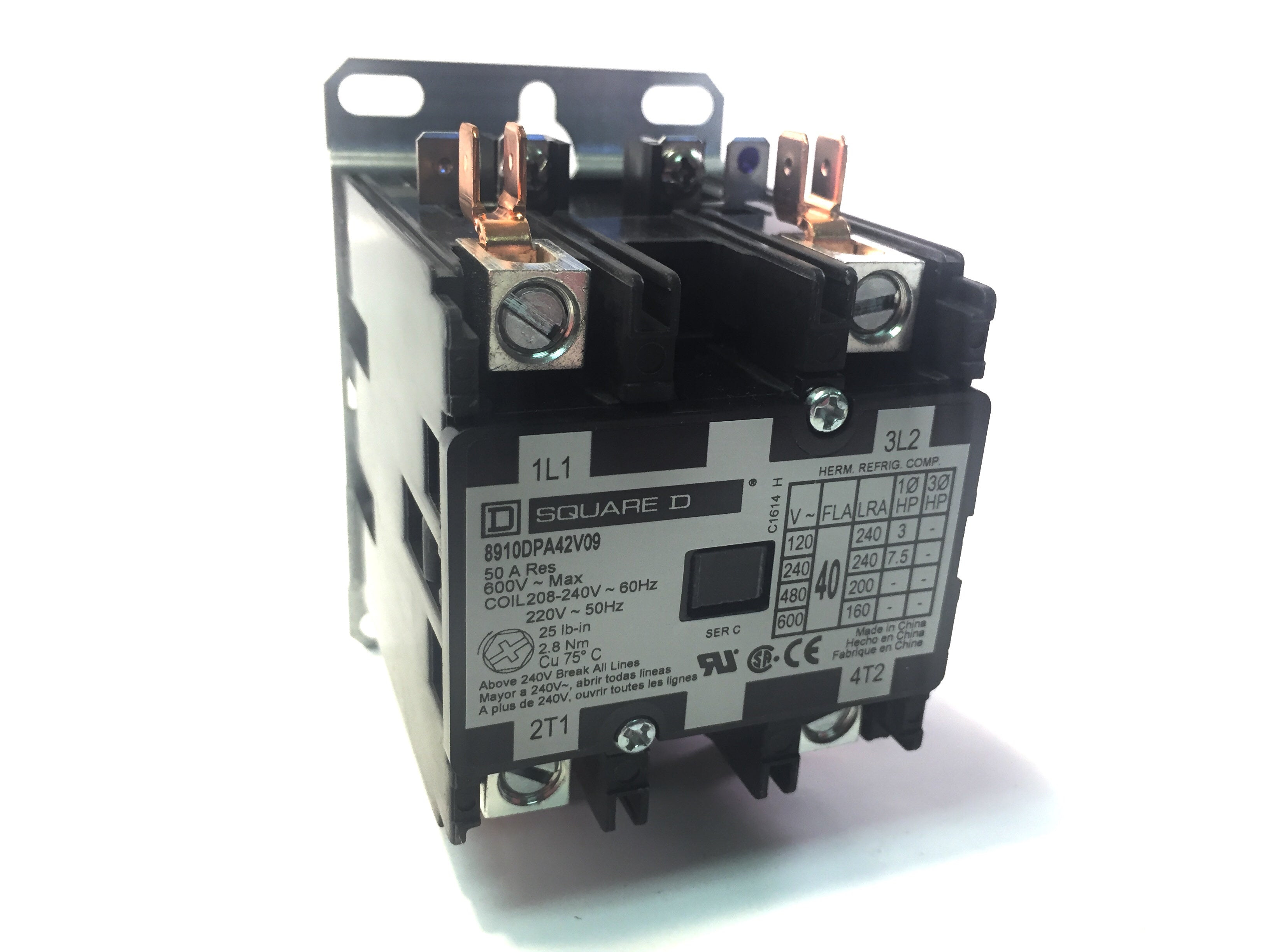 Main Contactor Relay - NCAT 1087 & 1275 Series