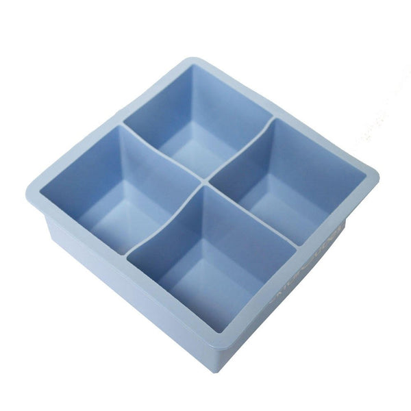 Cocktail Cubes - Extra Large Silicone Ice Cube  Trays - 2.5 Inches - Light Blue (2 Trays)