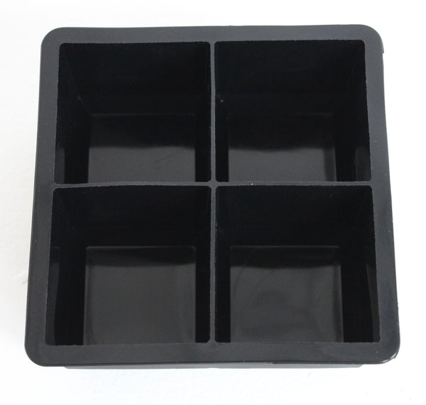 Cocktail Cubes - Extra Large Silicone Ice Cube  Trays - 2.5 Inches - Black (2 Trays)