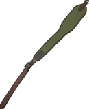 Vero Vellini Premium Wide-Top Rifle Sling (Green Neoprene / Brown Leather)