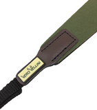 Vero Vellini Slip-proof Binocular Strap (Green / Brown Leather)