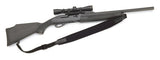 Vero Vellini Premium Wide-Top Rifle Sling (Black Neoprene / Black Leather)