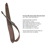 Premium QR Rifle Sling (Brown Leather and Loden)