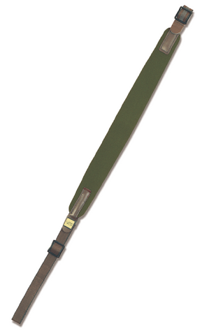 Vero Vellini Standard Rifle Sling (Green Neoprene / Brown Leather)