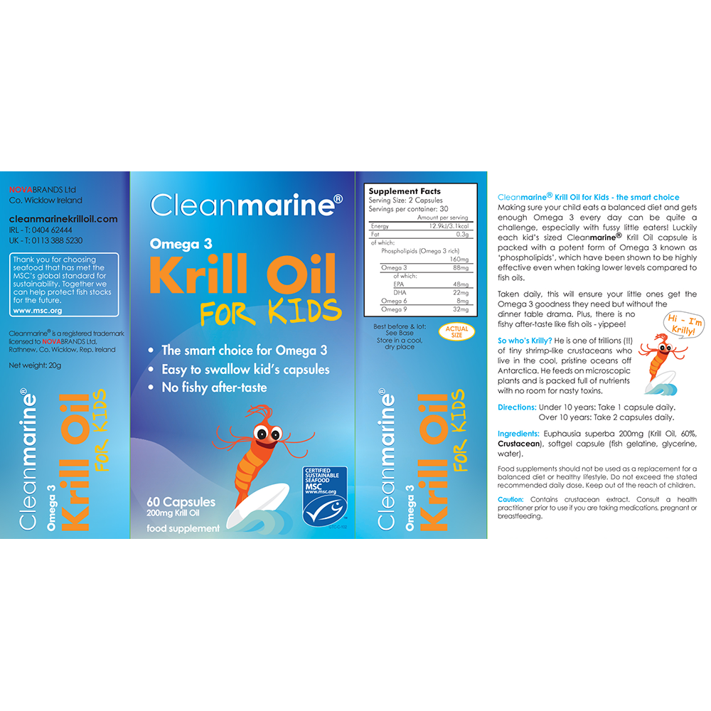 Cleanmarine Krill Oil for Kids