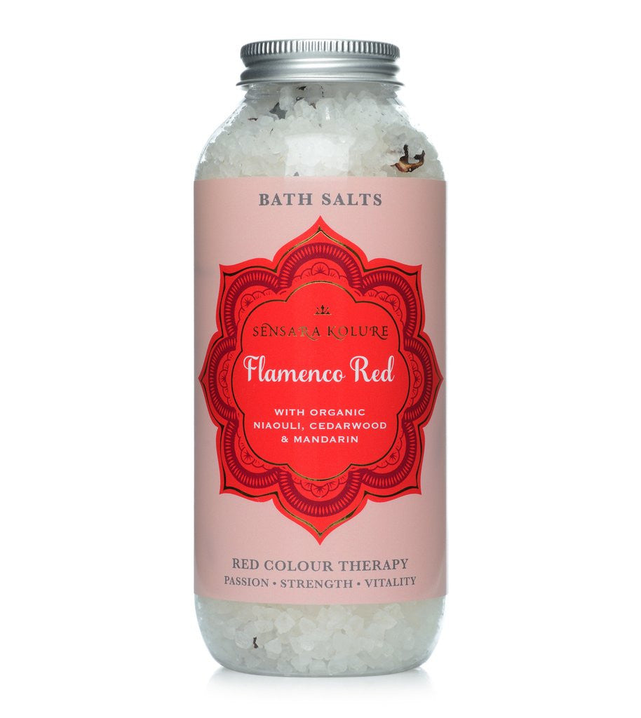 Flamenco Red Aromatherapy Bath Salt 400g