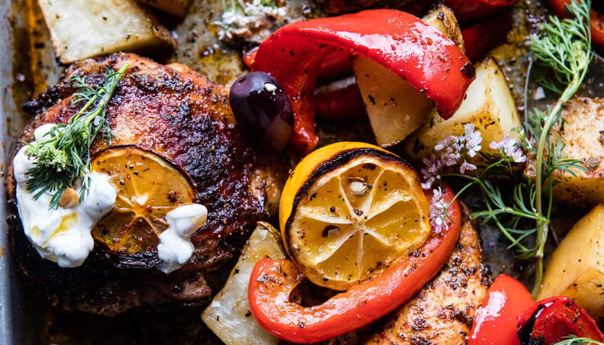 Greek Sheet Pan Chicken Souvlaki