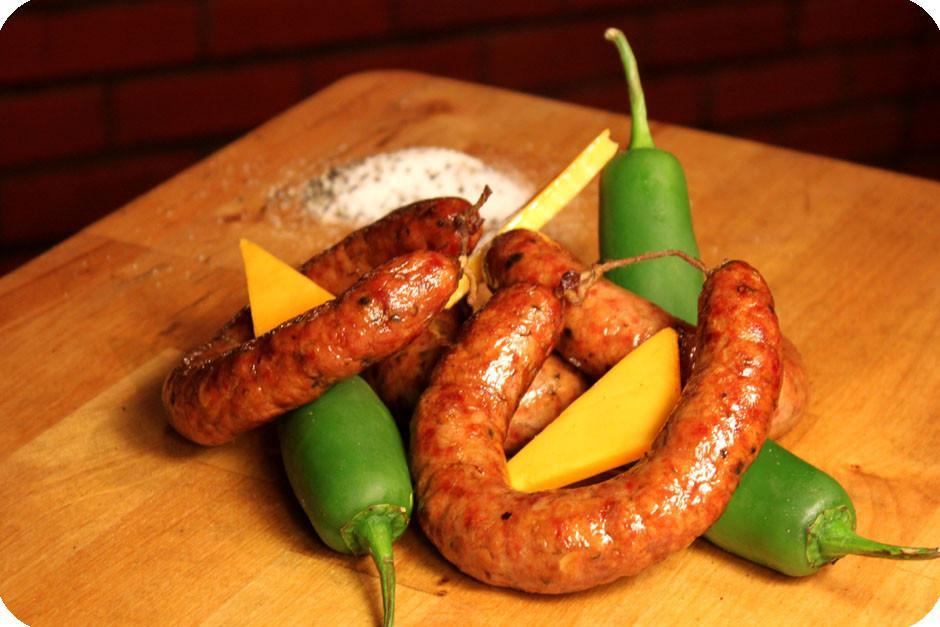 Berryman meat Fresh Sausage - Jalapeno & Smoked Cheddar - approx. 1 lb / package
