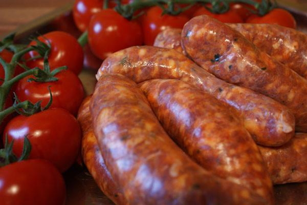 Berryman meat Fresh Sausage - Sundried Tomato, Spinach & Feta - Approx. 1lb / package
