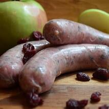 Berryman meat Fresh Sausage - Sweet Apple & Cranberry - approx. 1 lb / package