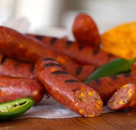 Berryman meat Smoked Sausage - Fresh Jalapeno & Smoked Cheddar Smokies - approx. 1.25 lbs / package