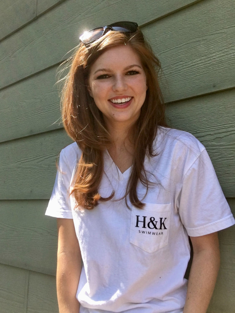 V-Neck H&K Logo T-Shirt