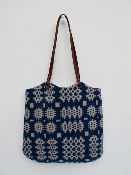 NEW Tapestry Tote - Indigo Blue & Stone Grey I