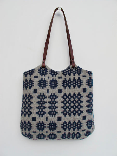 NEW Tapestry Tote - Indigo Blue & Stone Grey II