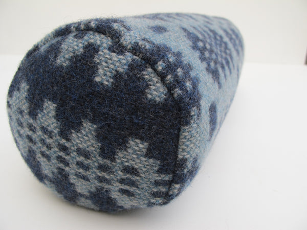 NEW Indigo Blue & Aqua II Bolster Cushion