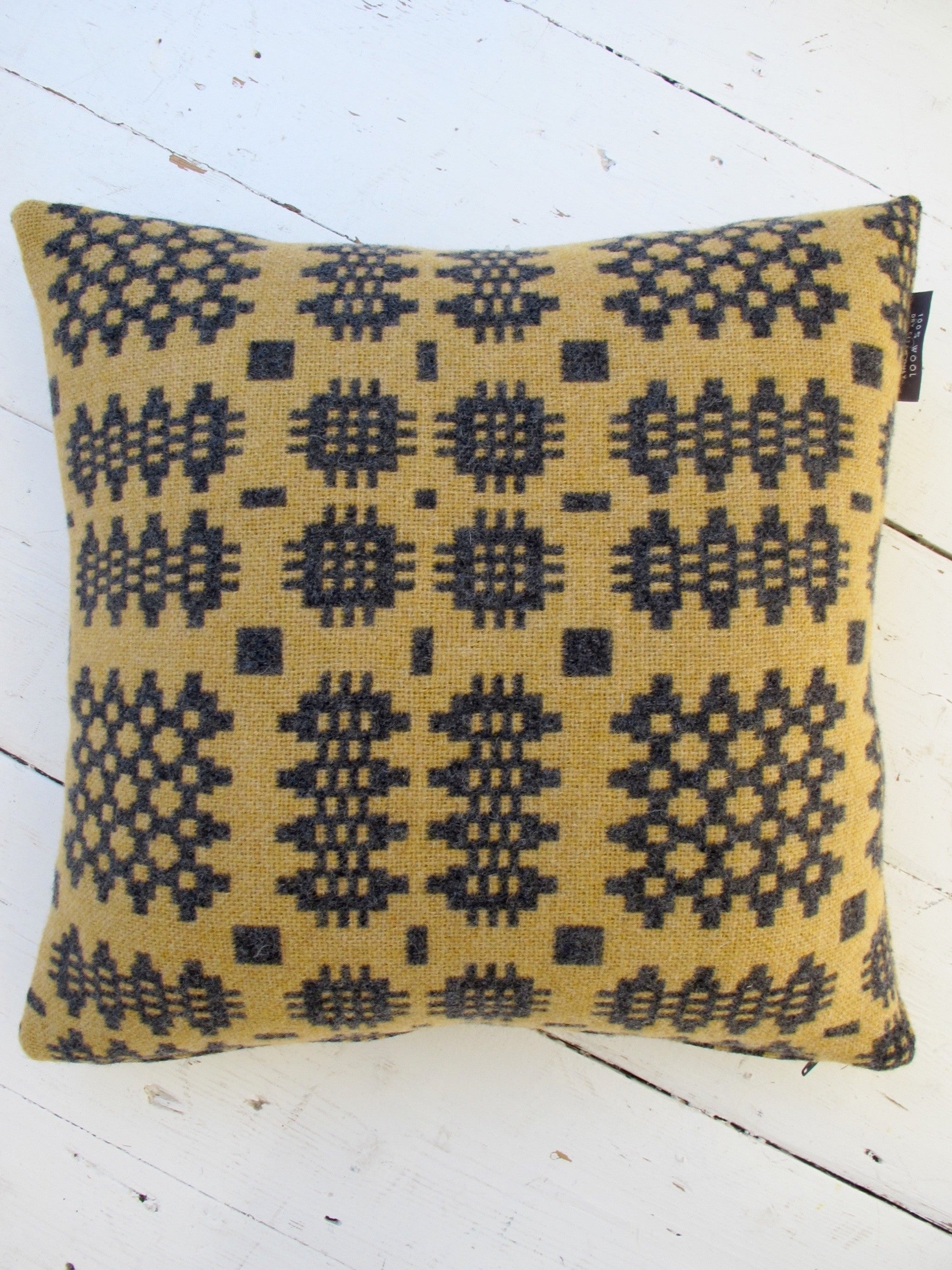 Gracie Maize Tapestry Cushion - 18""