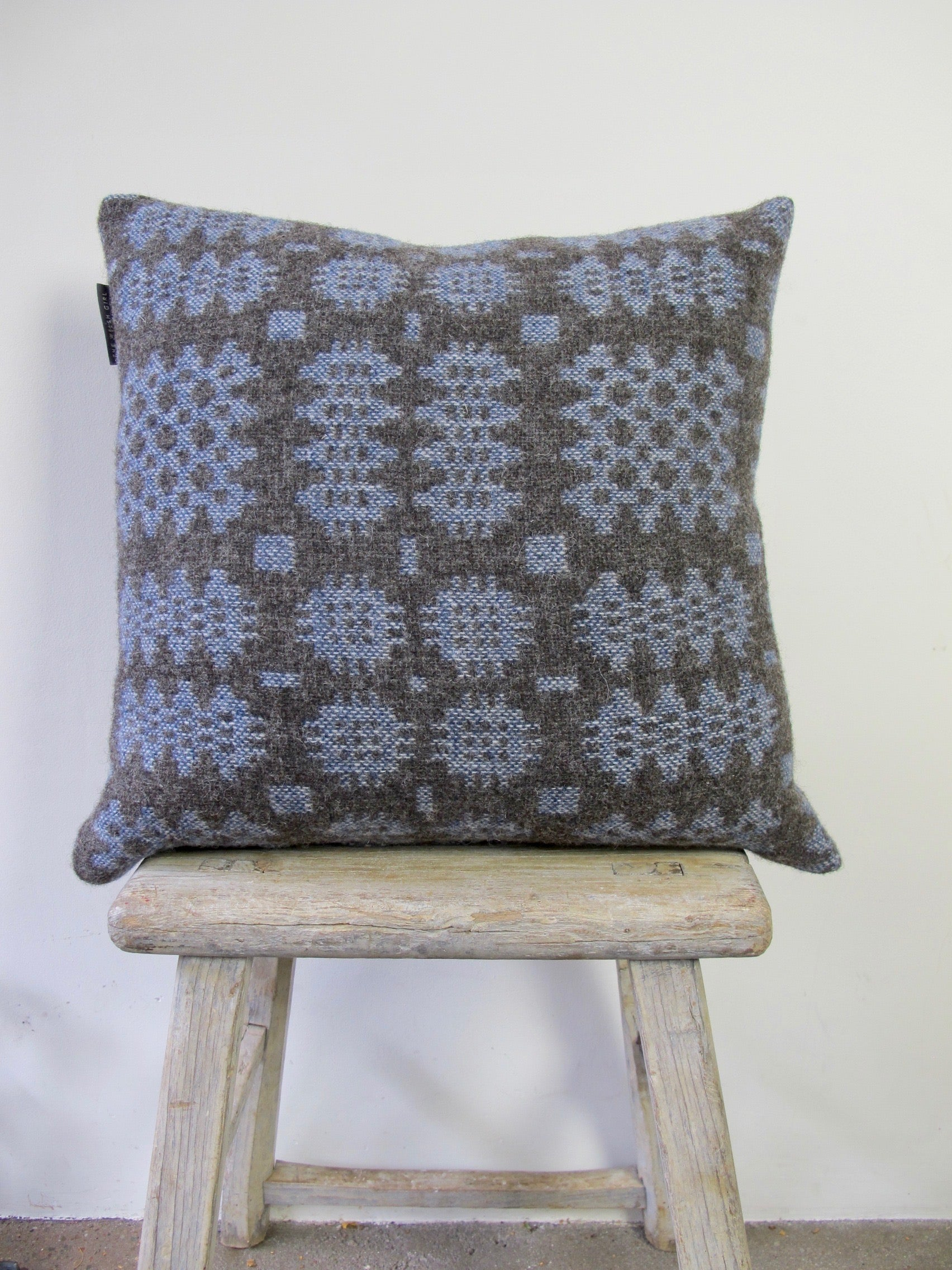 Lottie Blue Tapestry Cushion - 18""