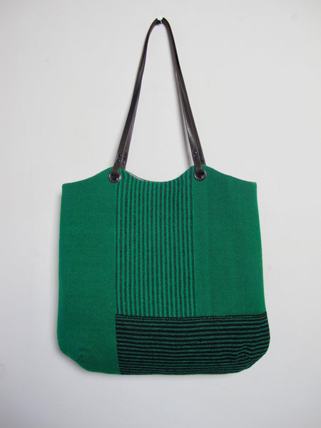 Patchwork Tote Bag - green block I