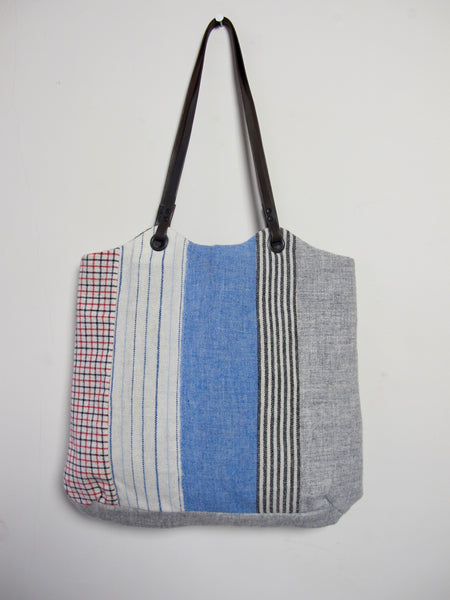 Patchwork Tote Bag - shirting I