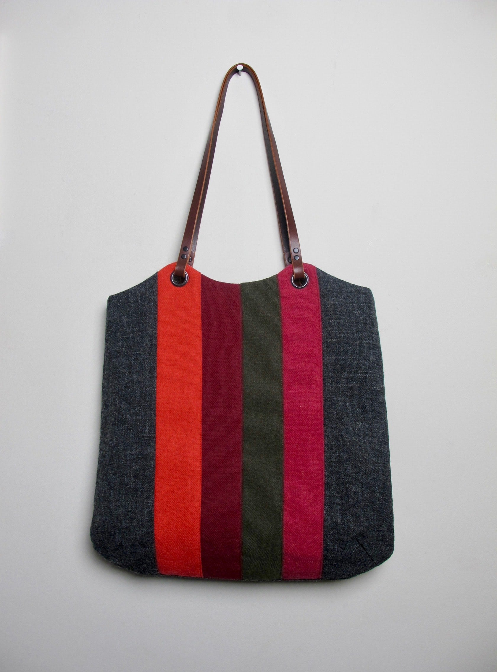 Patchwork Tote Bag - old school graphite II