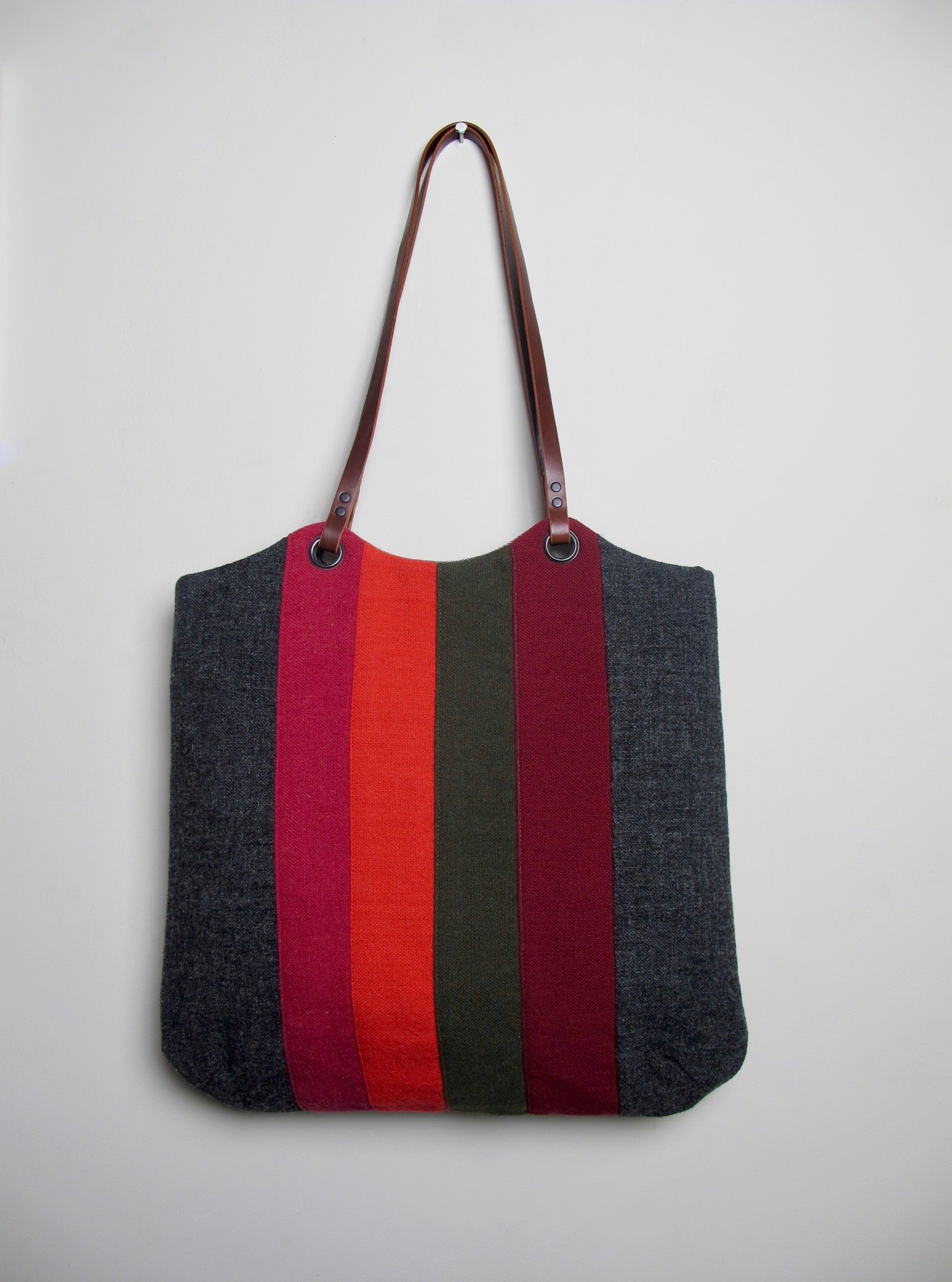 Patchwork Tote Bag - old school graphite I