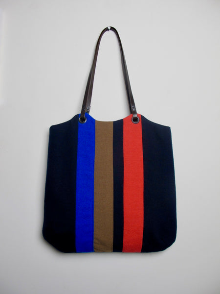 Patchwork Tote Bag - old school navy II