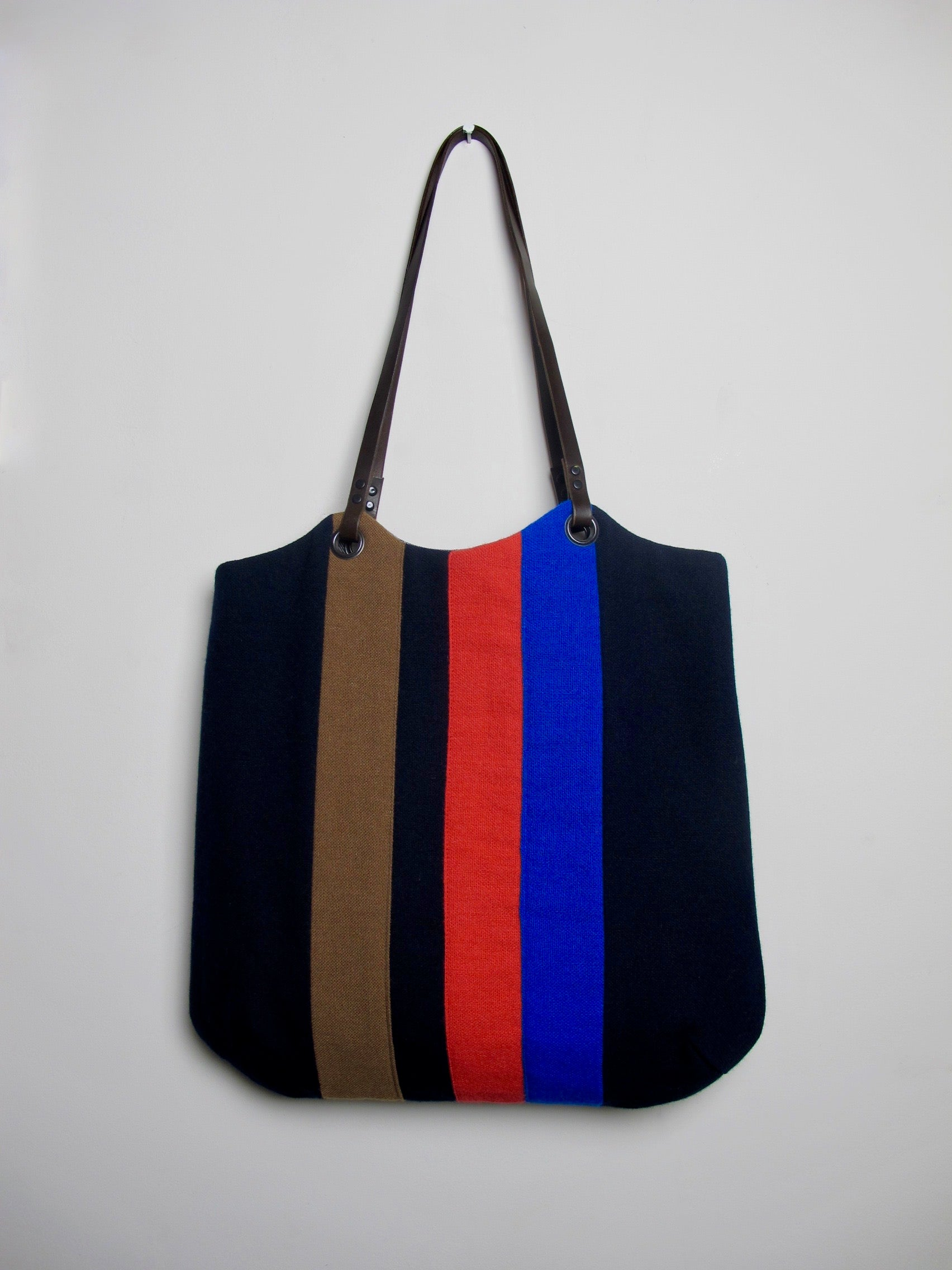 Patchwork Tote Bag - old school navy I