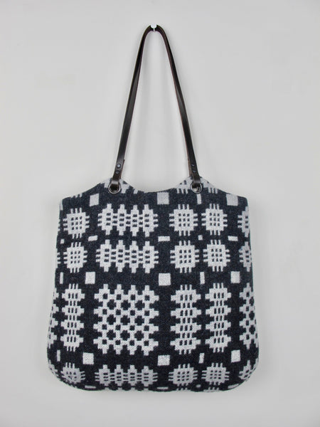 Tapestry Tote - Graphite & Silver Grey I