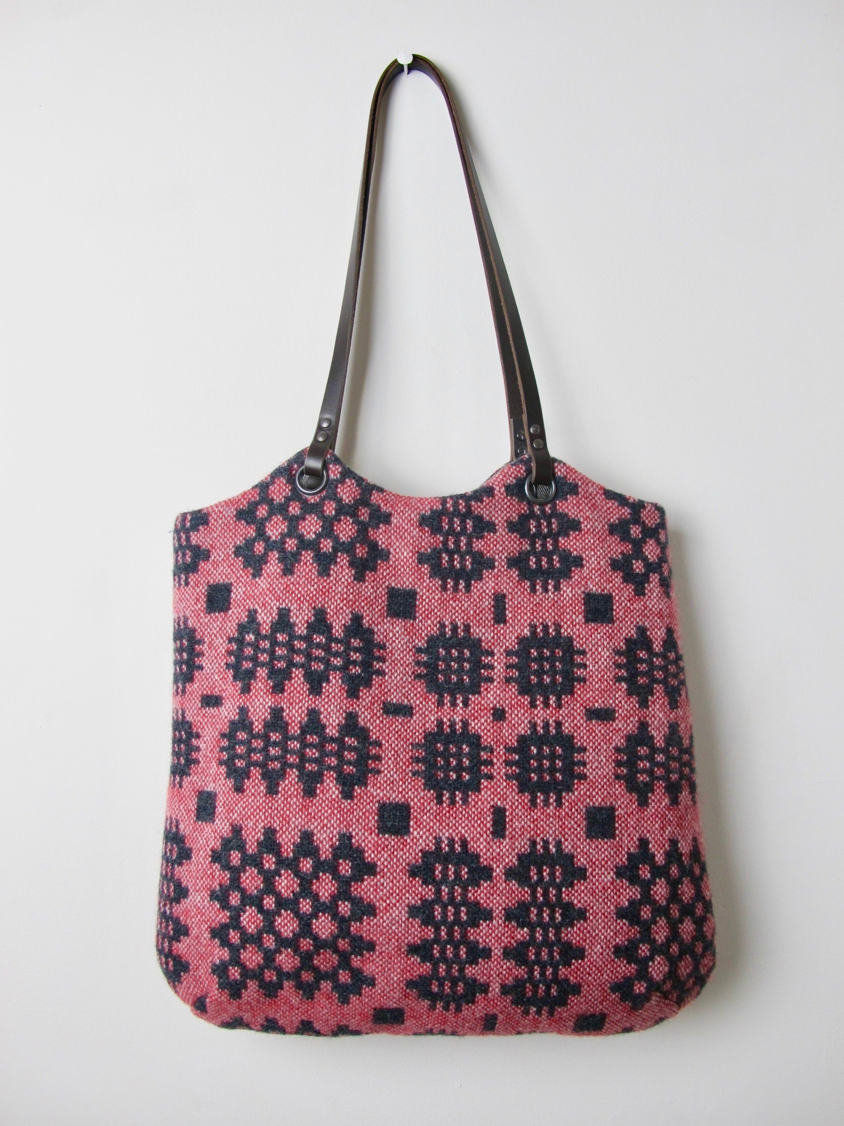 Tapestry Tote - Graphite & Berry Red II