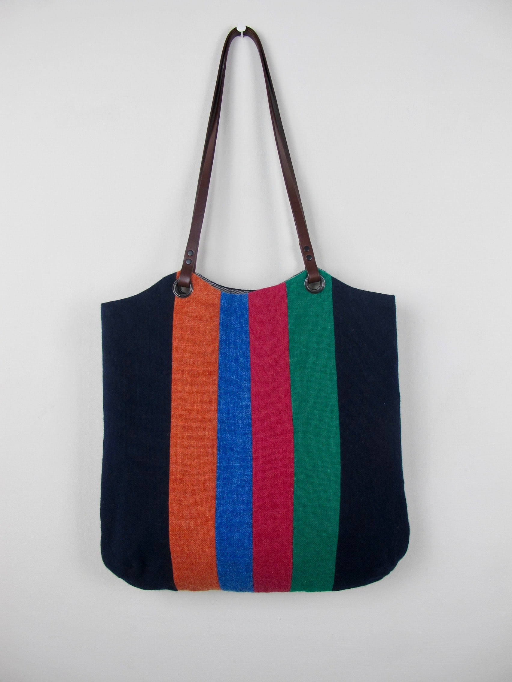 Patchwork Tote Bag - old school navy III