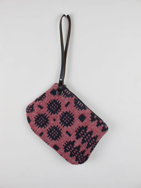 Graphite & Berry Red II Wristlet Bag