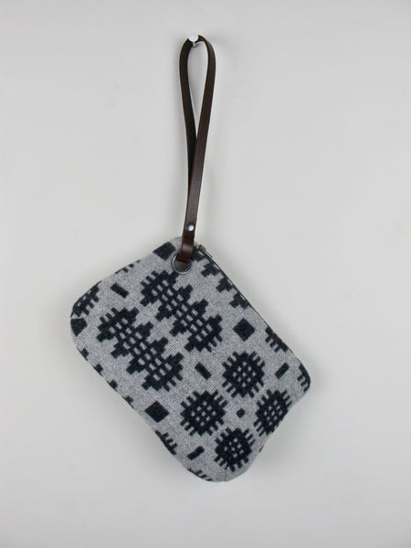 Graphite & Silver Grey II Wristlet Bag