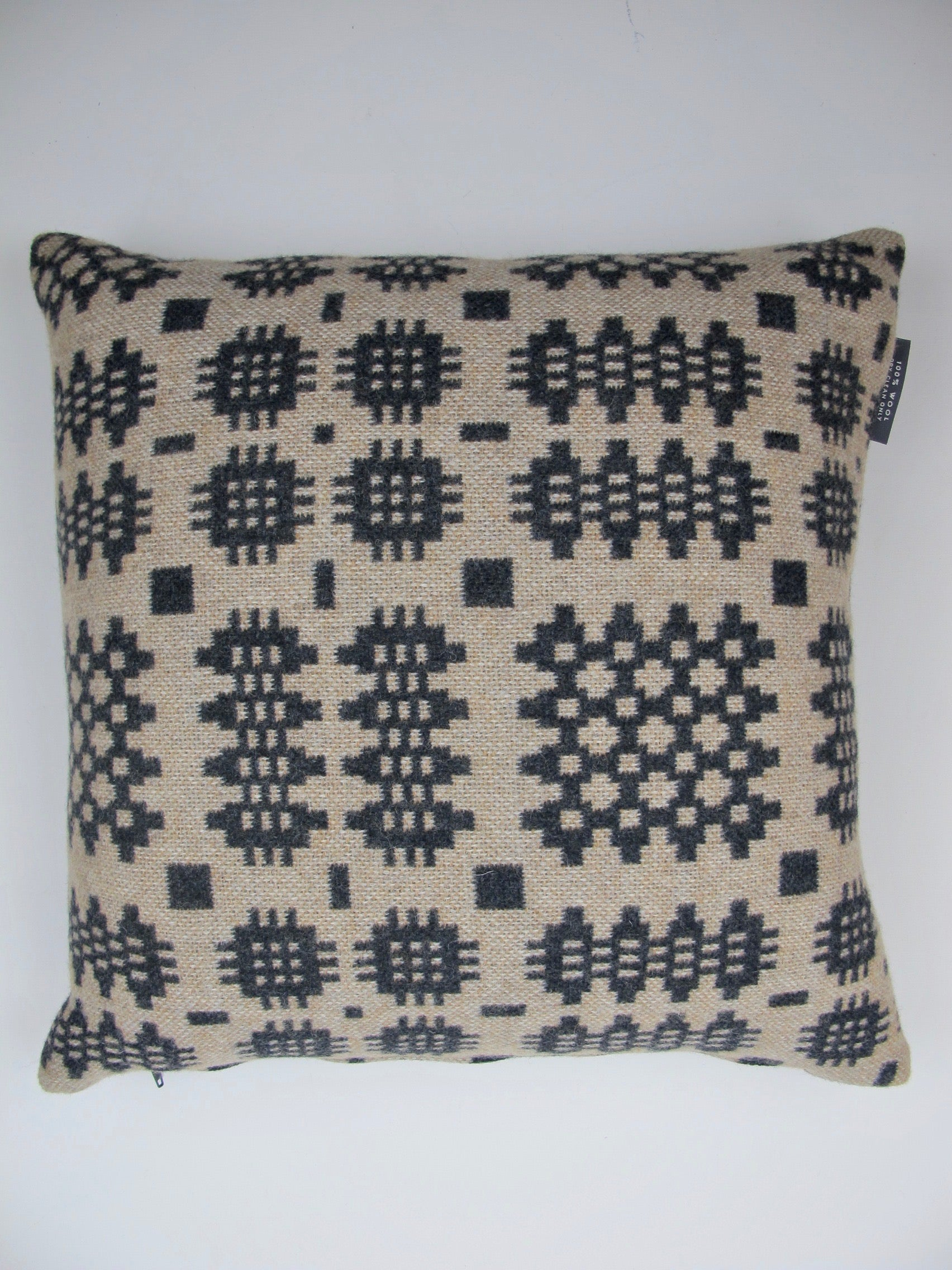 Graphite & Camel Tapestry Cushion - 18""