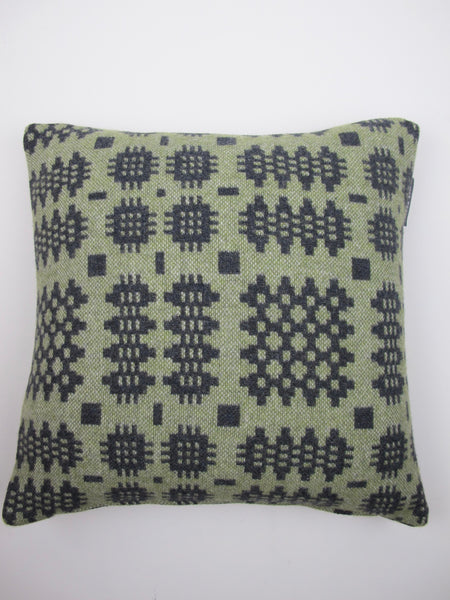 Graphite & Olive Green Cushion - 18""