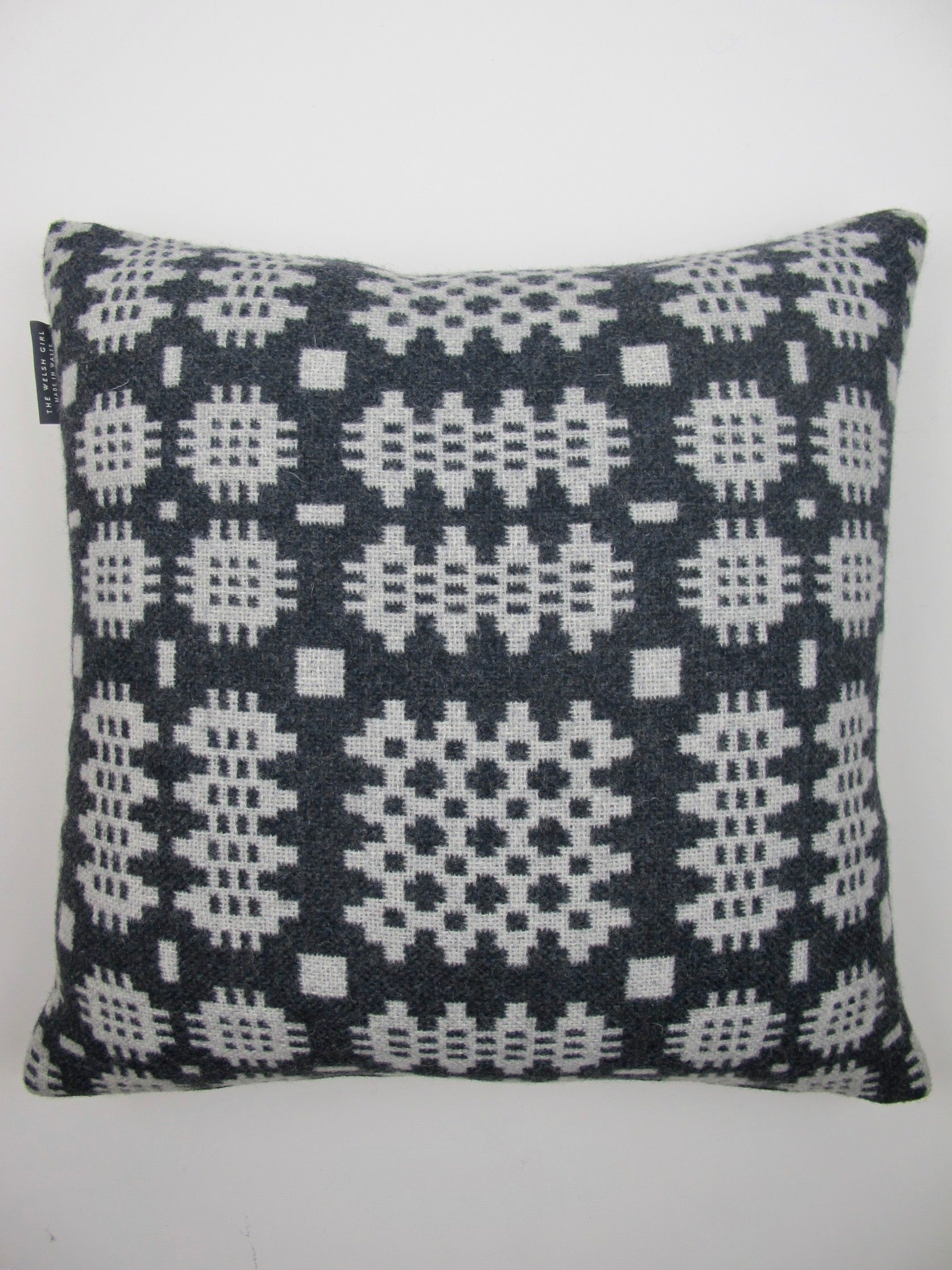 Graphite & Silver Grey Tapestry Cushion - 18""