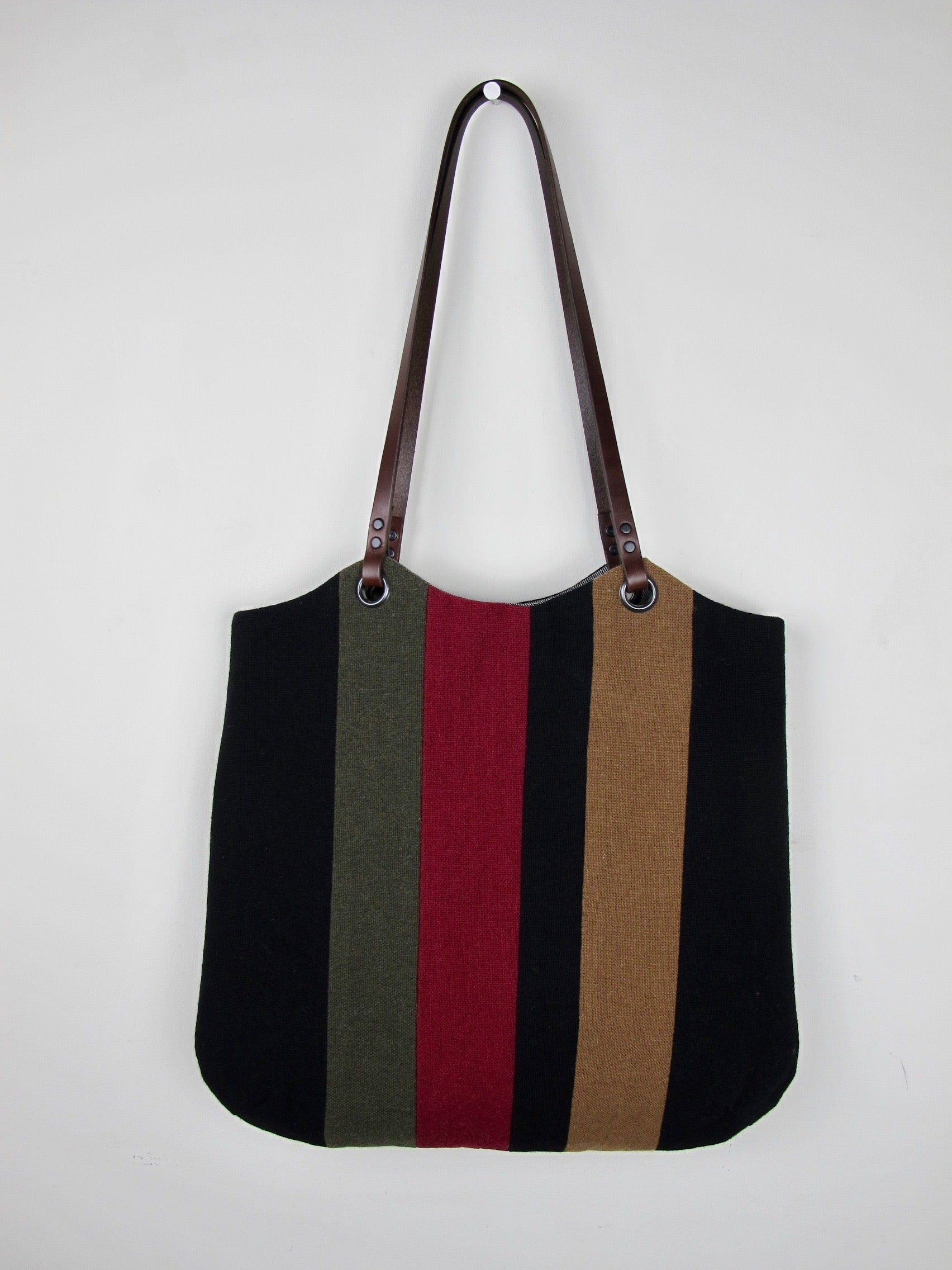 Patchwork Tote Bag - old school black I