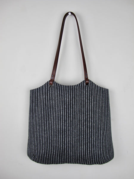 Tote Bag - black & silver grey heritage