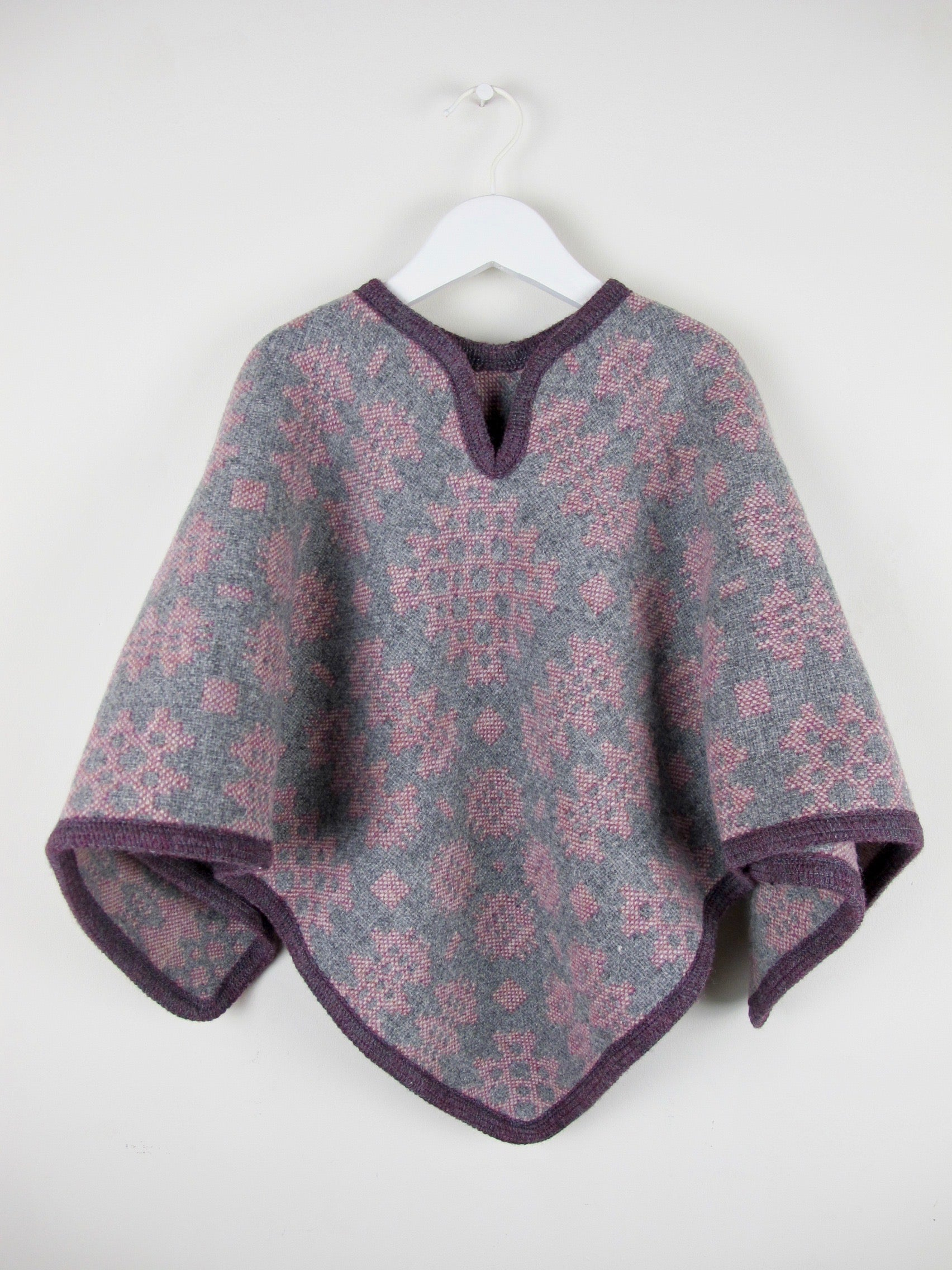 Vintage Berry - Child Poncho