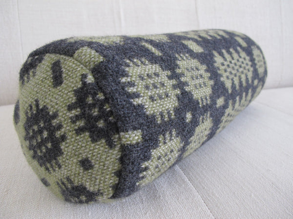 Graphite & Olive I Bolster Cushion