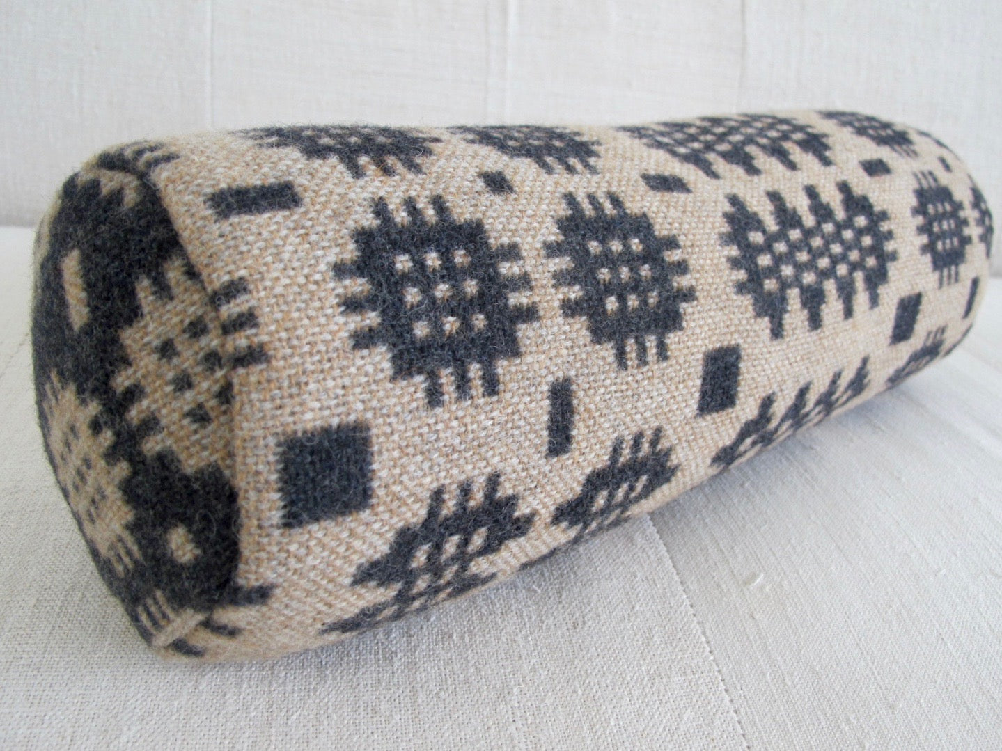 Graphite & Camel Bolster Cushion
