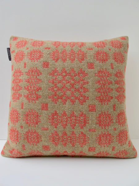 Sand and Coral Tapestry Cushion - 18""