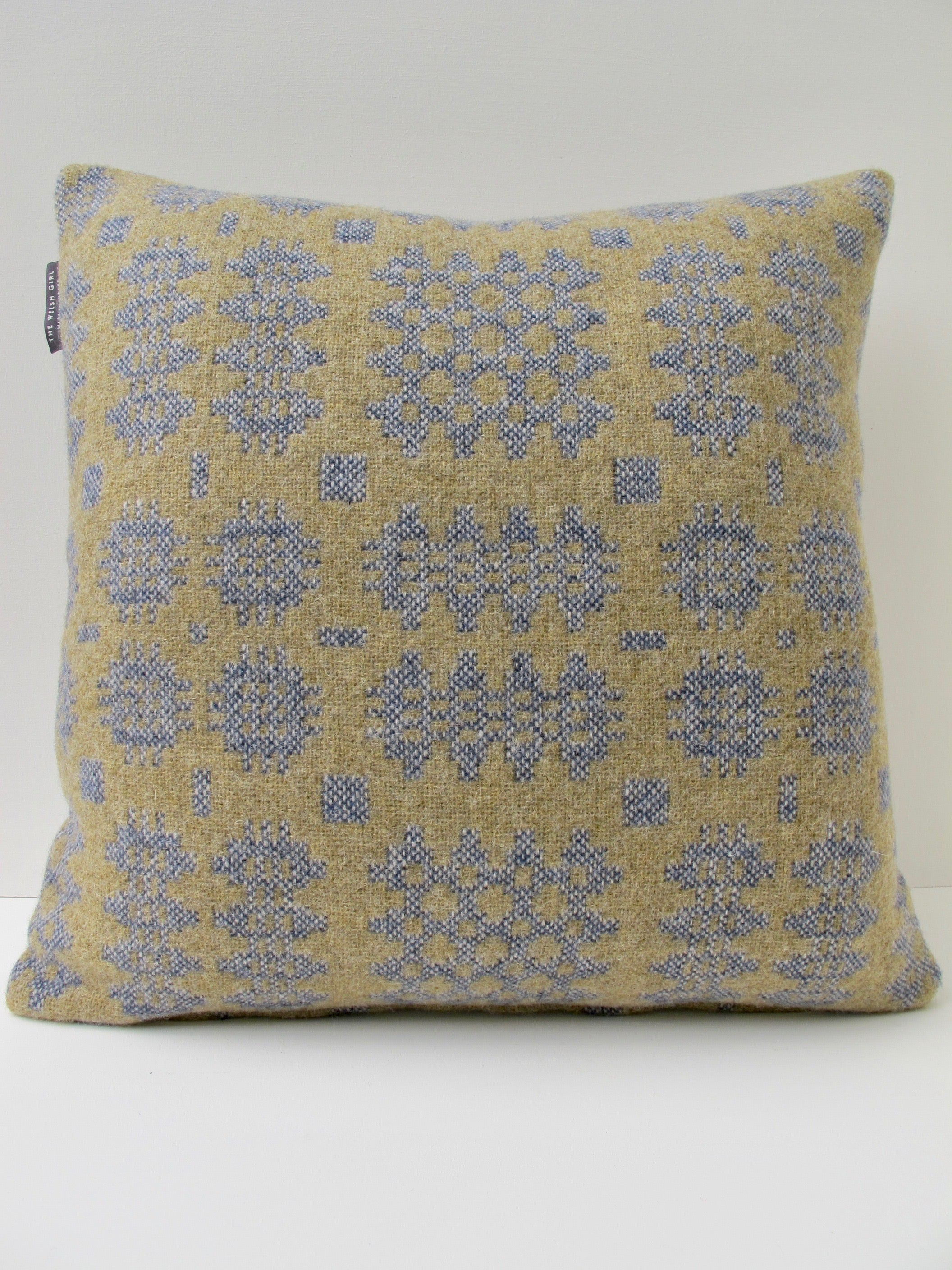 Sand and Denim Tapestry Cushion - 18""
