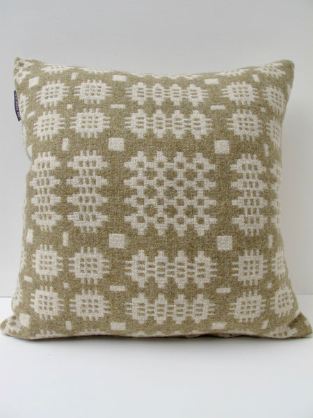 Sand and natural Tapestry Cushion - 18""