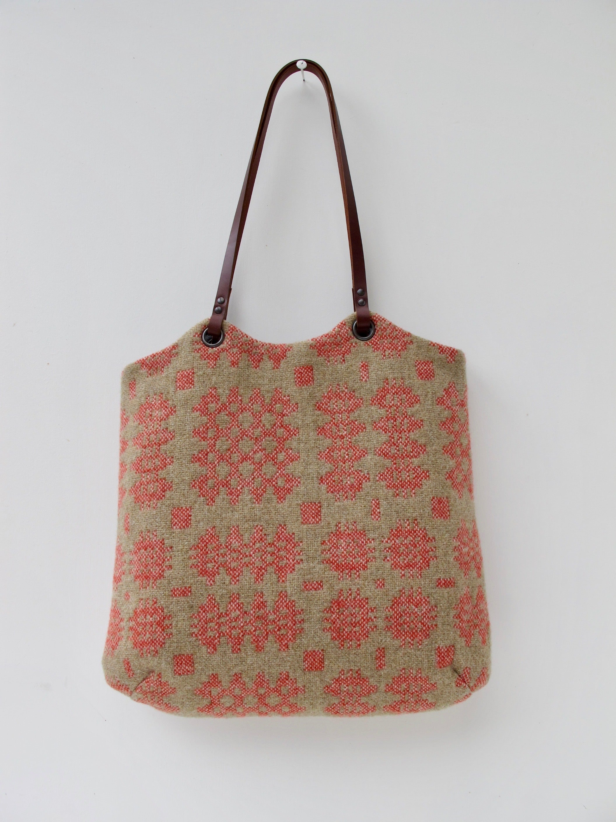 Tapestry Tote - Sand & Coral I
