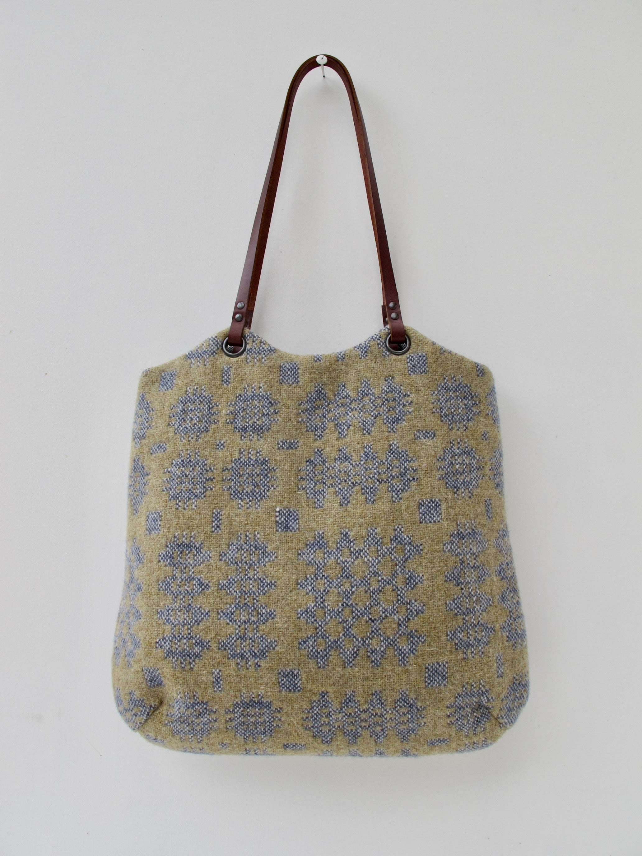 NEW Tapestry Tote - Sand & Denim I
