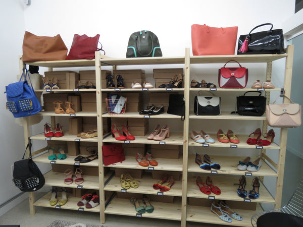 Handmade leather shoes, boots, handbags
