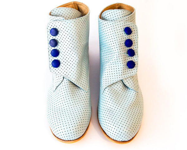 Bootie Light Blue Boots [option1] [option2] quierojune