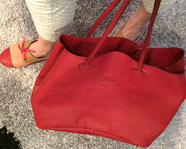 Beba Red Handbags [option1] [option2] quierojune