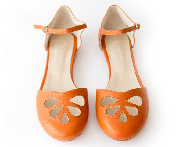Orange Pie Flats > Sandals 40 Orange quierojune