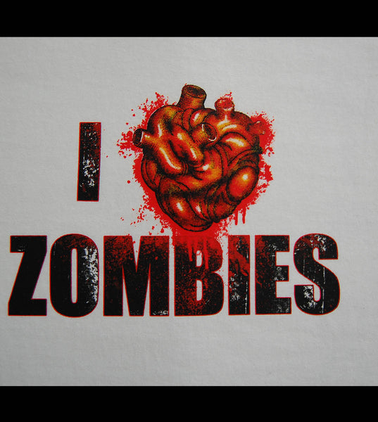Zombie - I Love Zombies V2 (women) - gunnytees